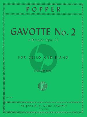 Popper Gavotte D-major Op 23 No.2 Violoncello-Piano