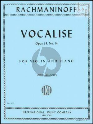 Vocalise Op.34 No.14 Violin-Piano