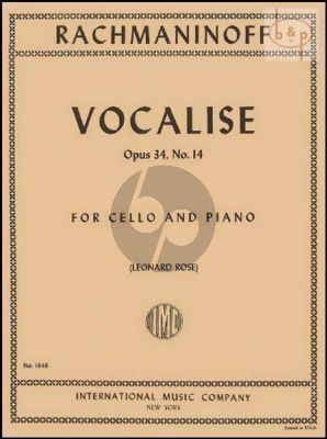 Vocalise Op.34 No.14 Violoncello-Piano