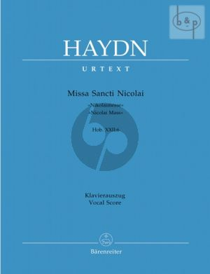Missa Sancti Nicolai (Hob.XXII:6) (Soli-Choir- Orch.) (Vocal Score)