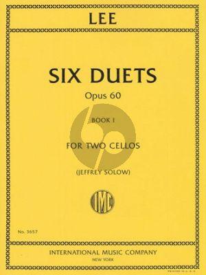 Lee 6 Duets Op. 60 Vol. 12 Cellos (edited by Jeffrey Solow)