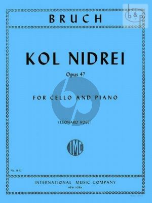Kol Nidrei Op.47 Violoncello-Piano