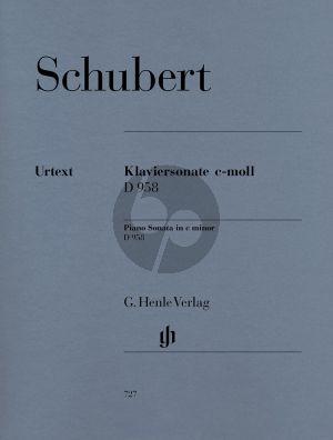 Sonate c-moll D 958 (edited by Paul Mies)