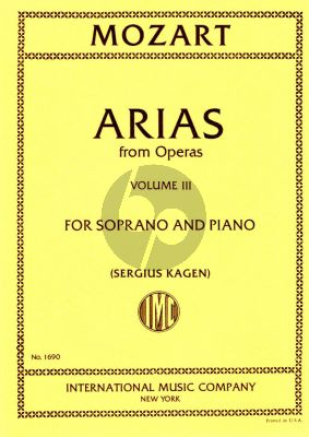 Mozart 40 Arias vol.3 (Soprano) (Kagen) (with English translations)
