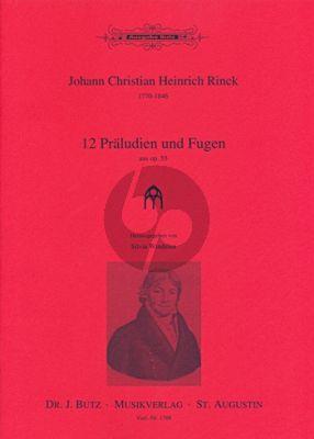 Rinck 12 Praeludien & Fugen aus Op.55 Orgel (Silvia Windelen)