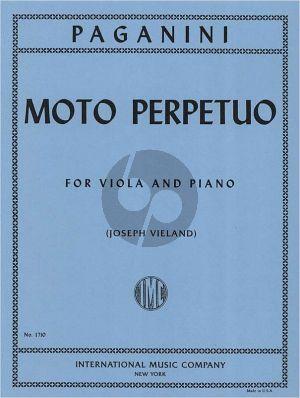 Paganini Moto Perpetuo Op.11 Viola-Piano (Vieland)