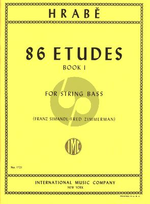 Hrabe 86 Etudes Vol.1 for String Bass (Franz Simandl and Fred Zimmermann)