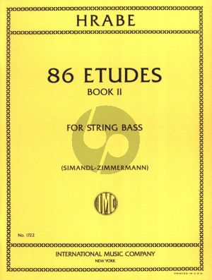 Hrabe 86 Etudes Vol.2 for String Bass (Franz Simandl and Fred Zimmermann)