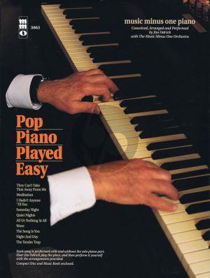 Pop Piano Played Easy (Bk-Cd) (MMO Minus Piano) (Jim Odrich)