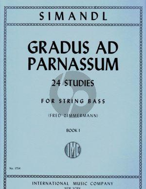 Simandl Gradus ad Parnassum - 24 Studies Vol.1 Double Bass (Fred Zimmerman)