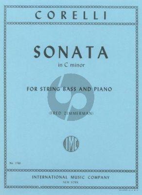 Corelli Sonata c-minor Op.5 No.8 Double Bass-Piano (Fred Zimmerman)