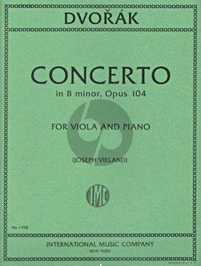Dvorak Cello Concerto Op.104 arr. for Viola by Joseph Vieland