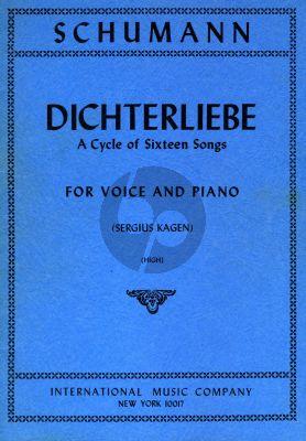 Schumann Dichterliebe opus 48 (A cycle of 16 songs) (High Voice) (Kagen)
