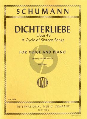 Schumann Dichterliebe Op.48 (A Cycle of 16 Songs) (Medium Voice) (Kagen)