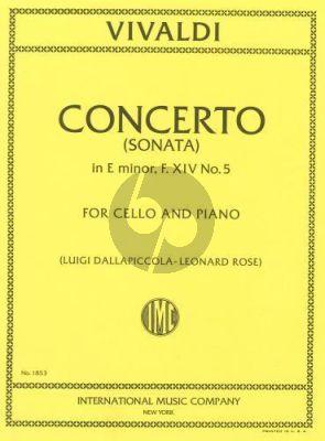 Vivaldi Concerto (Sonata) e-minor RV 40 (F.XIV no.5) Violoncello-Piano