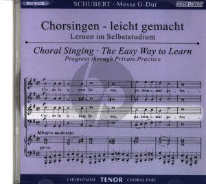 Schubert Messe G-dur D.167 CD Tenor Chorstimme Chorsingen leicht gemacht (Peters)