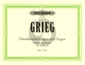 Grieg Choralbearbeitungen & Fugen Orgel (EG 184e, 185 , 186) (Dorfmuller)