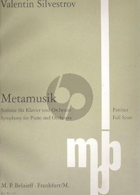 Silvestrov Metamusik (Symphonie für Klavier und Orchester) Partitur