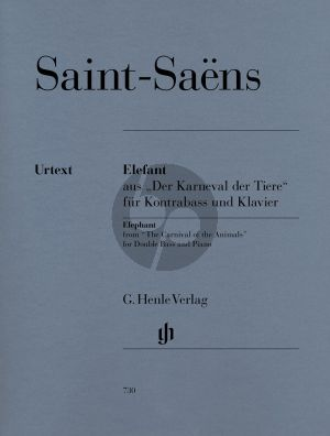 Saint-Saens Elefant (aus Der Karneval der Tiere) (Glockler) (Henle-Urtext)