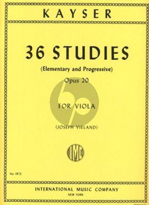 Kayser 36 Studies (Elementary and Progressive) Op.20 Viola (Vieland)
