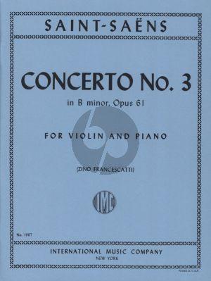 Saint-Saens Concerto No.3 B-minor Op. 61 Violin and Piano (Zino Francescatti)
