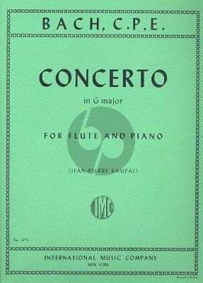 Bach Concerto G-major Flute-Piano (edited by Jean Pierre Rampal)