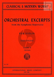 Orchestral Excerpts Vol.3 Violin