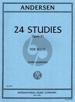 Andersen 24 Studies Op.21 for Flute (edited by John Wummer)
