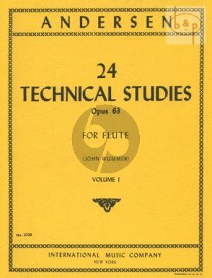 24 Technical Studies Op.63 Vol.1