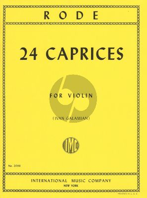 Rode 24 Caprices Violin (edited by Ivan Galamian)