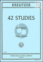 Kreutzer 42 Studies for Violin (edited by Ivan Galamian)