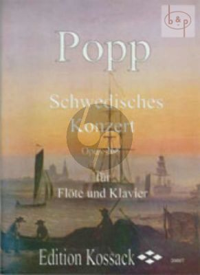 Popp Schwedisches Konzert Op.266 Flöte-Klavier (Widdermann) (Grade 4)