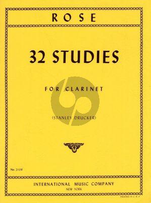 Rose 32 Studies for Clarinet (Stanley Drucker)
