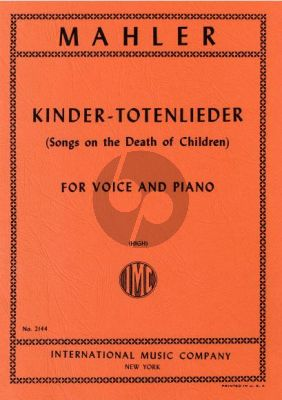 Mahler Kindertoten Lieder (High Voice) (German/English)