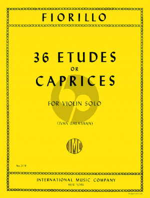 Fiorillo 36 Etudes or Caprices (Galamian)