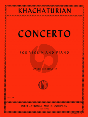 Khachaturian Concerto Violin-Orchestra (piano red.) (David Oistrakh)