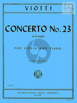 Concerto No.23 G-major
