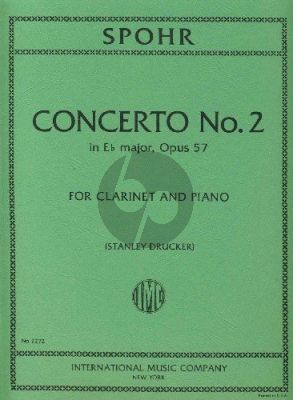 Spohr Concerto No.2 Opus 57 Clarinet and Orchester (piano reduction) (Stanley Drucker)