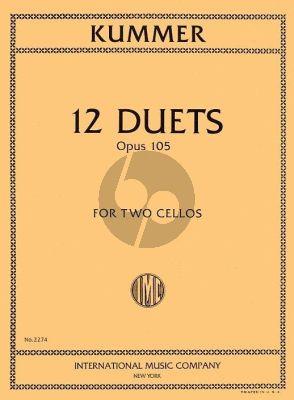 Kummer 12 Duets Op.105 2 Cellos (edited by Waldo Lyman)