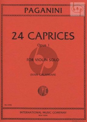 24 Caprices Op.1 Violin solo