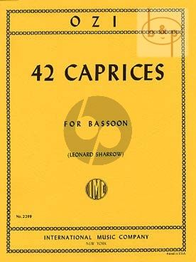 42 Caprices for Bassoon