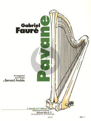 Faure Pavane Opus 50 Harpe (Bernard Andres)