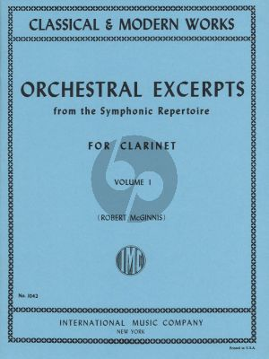 Orchestral Excerpts from the Symphonic Repertoire Vol.1 Clarinet (Robert McGinnis)