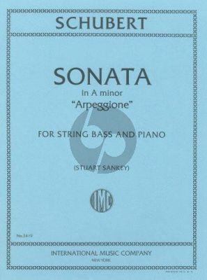 Schubert Sonate Arpeggione D.821 Double Bass-Piano (Sankey)