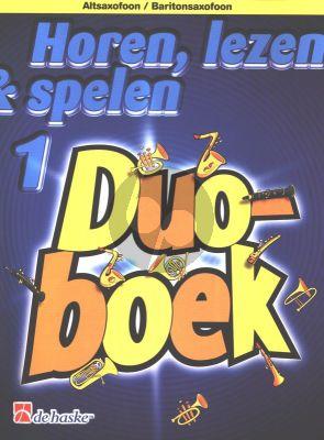 Horen, Lezen & Spelen Vol.1 Duoboek (Altosaxofoon/Baritonsaxofoon)