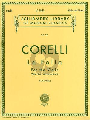 Corelli La Folia Variations Op.5 No.12 Violin-Piano