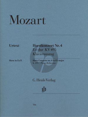 Mozart Konzert No.4 Es-dur KV 495 Horn-Orch. (KA) (Wiese/Schulze/Levin)