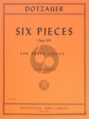 Dotzauer 6 Pieces Opus 104 3 Violoncellos (edited by Nathan Stutch)