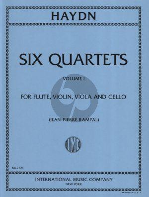 Haydn 6 Quartets Vol.1 (Flute, Violin, Viola and Violoncello) (Parts) (edited by Jean-Pierre Rampal)