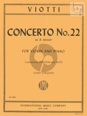 Concerto No.22 A-minor